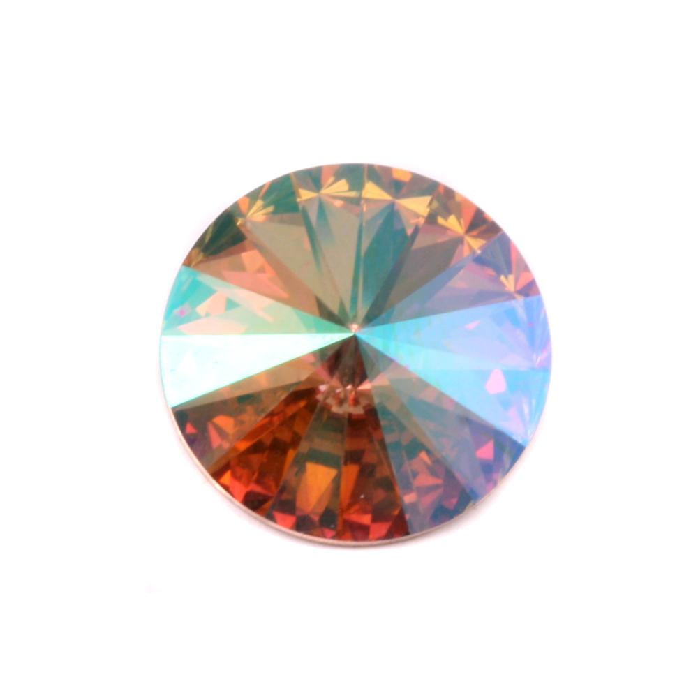 Crystals & Beads Swarovski Crystal Rivoli - Purple Haze 18mm