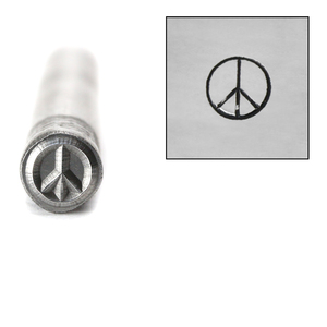 Metal Stamping Tools Peace Sign Metal Design Stamp, 5.5mm