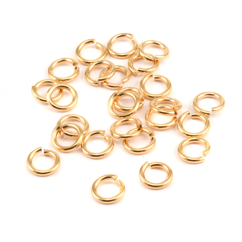 Chain & Jump Rings Gold Tone 5mm I.D. 16 Gauge Jump Rings, 5gm pack