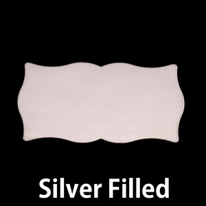 Metal Stamping Blanks Silver Filled Large Scholarly Plaque, 24g
