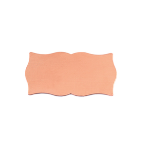 "Metal Stamping Blanks Copper Scholarly Plaque, 28.3mm (1.11"") x 14.6mm (.58""), 24g"