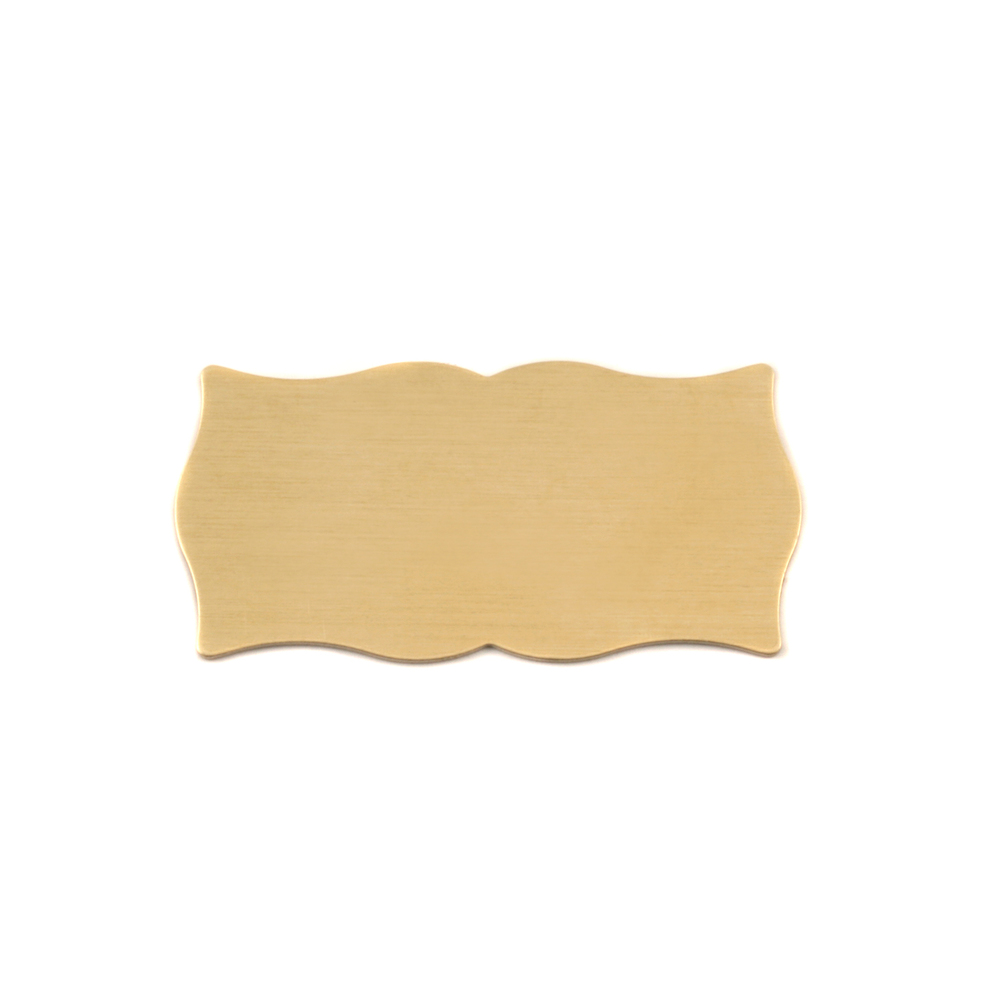Metal Stamping Blanks Brass Small Scholarly Plaque, 24g