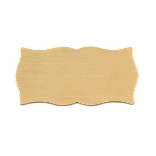 Metal Stamping Blanks Brass Large Scholarly Plaque, 24g