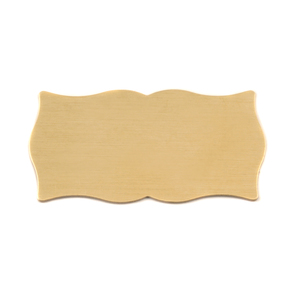 "Metal Stamping Blanks Brass Scholarly Plaque, 38mm (1.5"") x 19.8mm (.78""), 24g"