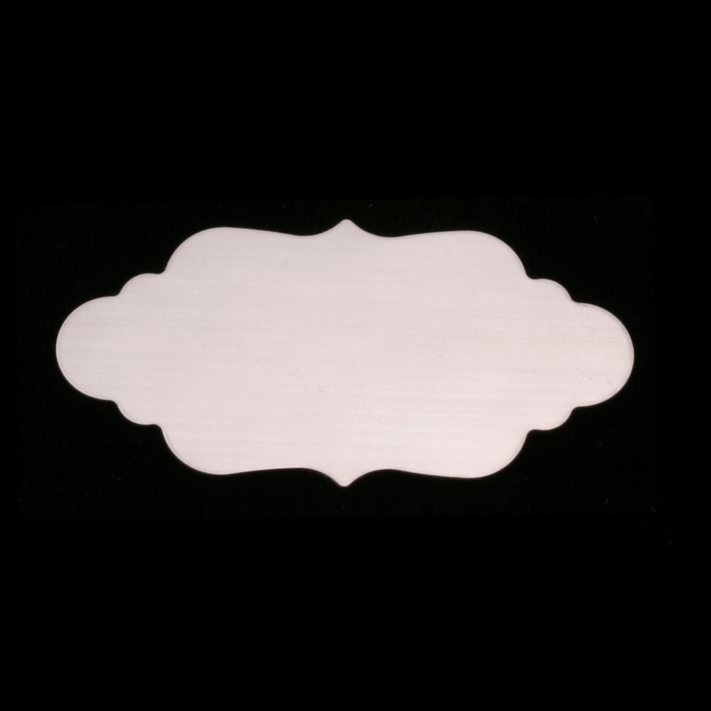 Metal Stamping Blanks Sterling Silver Large Elegant Plaque, 24g