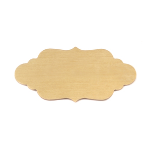 "Metal Stamping Blanks Brass Elegant Plaque, 40.2mm (1.58"") x 19.8mm (.78""), 24g"