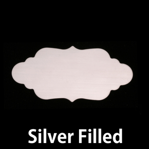 Metal Stamping Blanks Silver Filled Large Elegant  Plaque, 24g