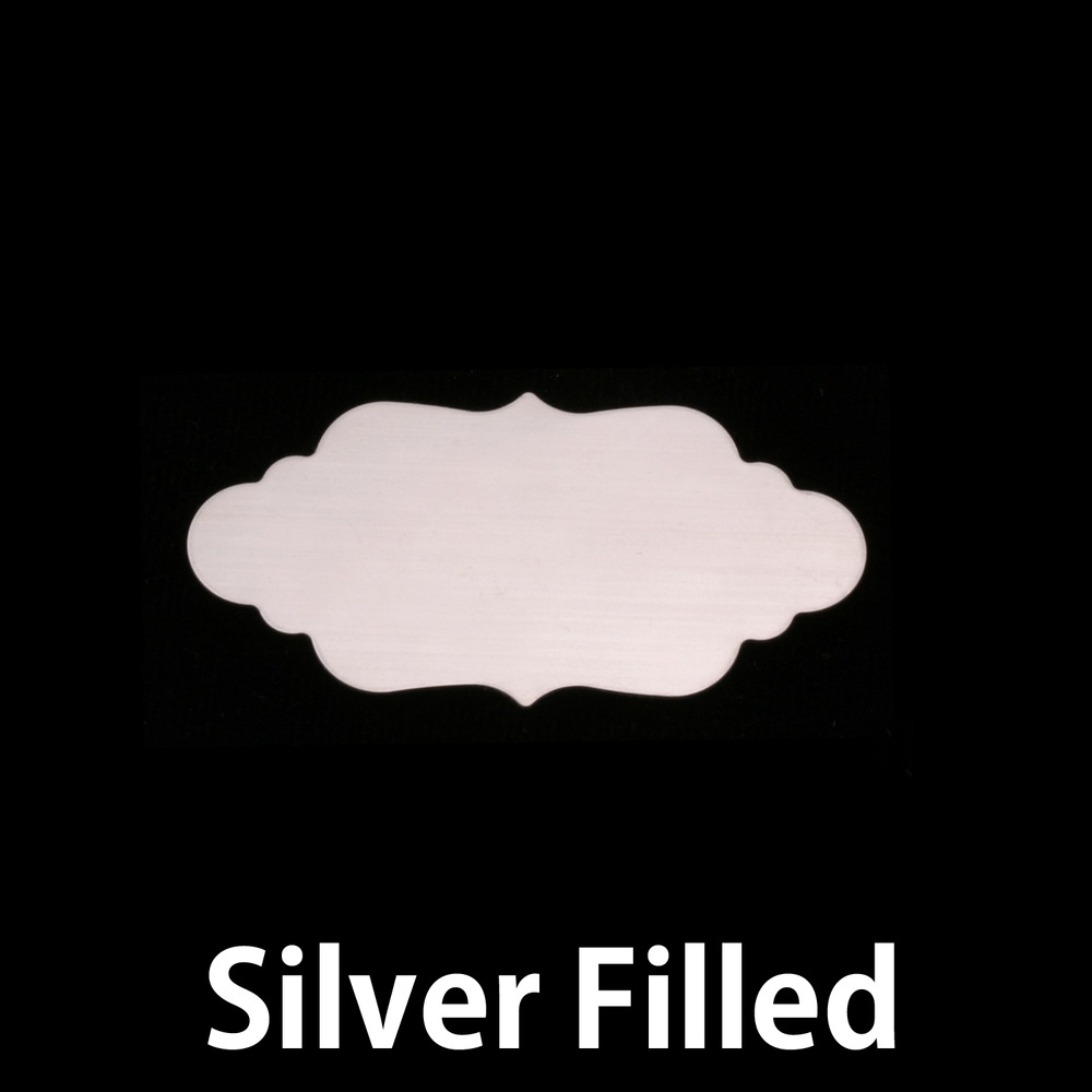 Metal Stamping Blanks Silver Filled Small Elegant Plaque, 24g