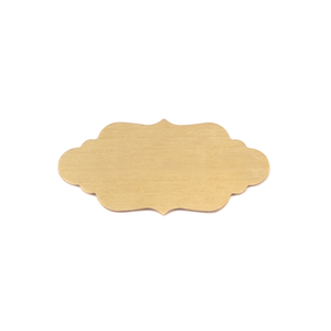 "Metal Stamping Blanks Brass Elegant Plaque, 29.5mm (1.16"") x 14.6mm (.57""), 24g"