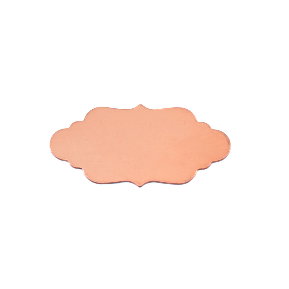 "Metal Stamping Blanks Copper Elegant Plaque, 29.5mm (1.16"") x 14.6mm (.57""), 24g, Pack of 5"