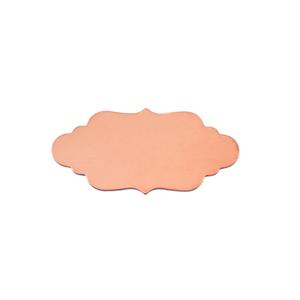 "Metal Stamping Blanks Copper Elegant Plaque, 29.5mm (1.16"") x 14.6mm (.57""), 24g, Pack of 5"
