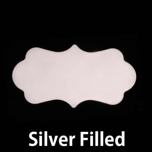 Metal Stamping Blanks Silver Filled Large Mod  Plaque, 24g