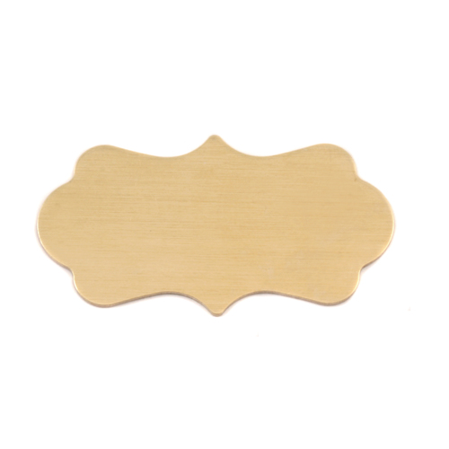 Metal Stamping Blanks Brass Large Mod Plaque, 24g