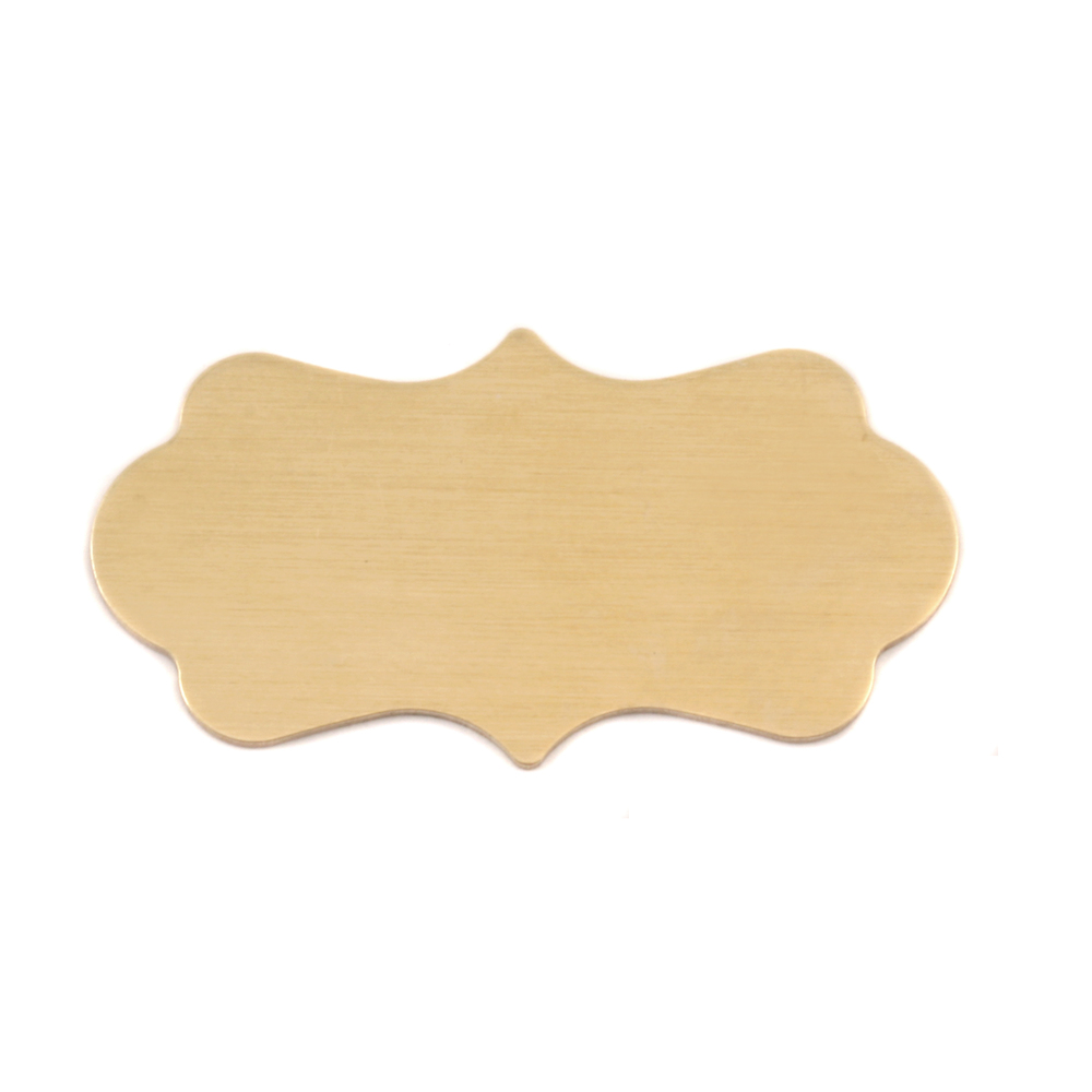 "Metal Stamping Blanks Brass Mod Plaque, 40.3mm (1.59"") x 22.1mm (.87""), 24g"