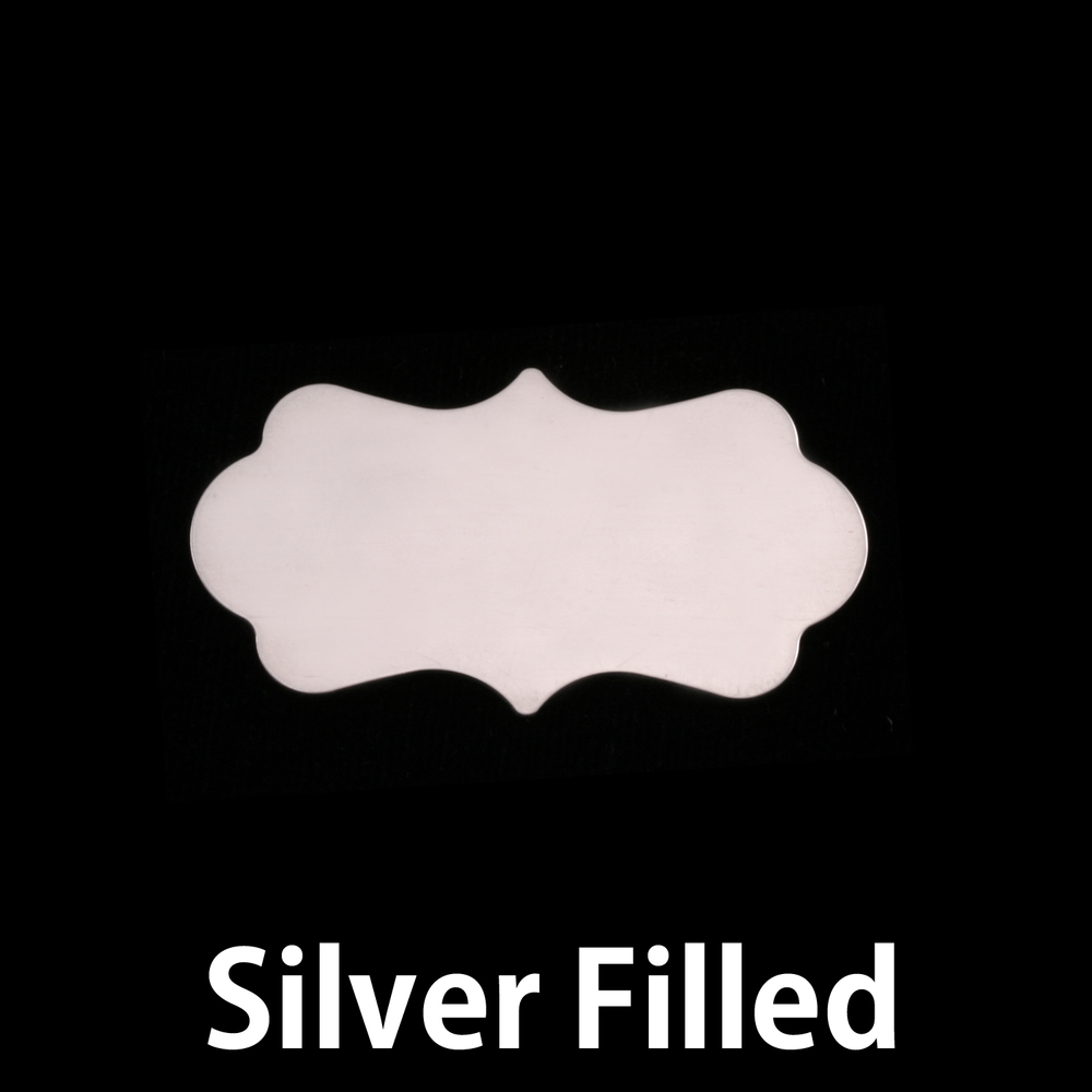 Metal Stamping Blanks Silver Filled Small Mod  Plaque, 24g