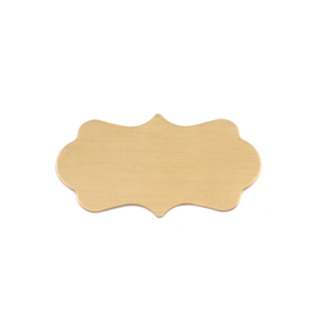 "Metal Stamping Blanks Brass Mod Plaque, 29mm (1.14"") x 16mm (.63""), 24g"