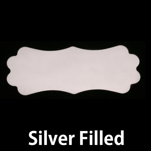 Metal Stamping Blanks Silver Filled Large Lanky  Plaque, 24g