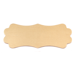 "Metal Stamping Blanks Brass Lanky Plaque, 50mm (1.95"") x 19mm (.75""), 24g"