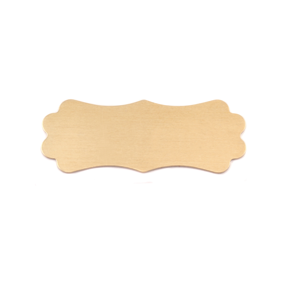 Metal Stamping Blanks Brass Small Lanky Plaque, 24g