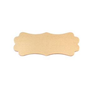 "Metal Stamping Blanks Brass Lanky Plaque, 37mm (1.45"") x 14.4mm (.57""), 24g"