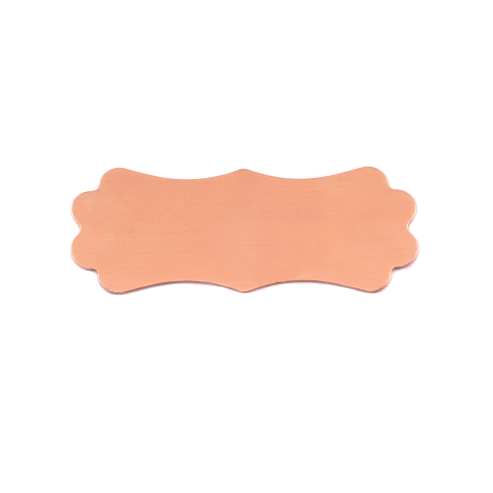 Metal Stamping Blanks Copper Small Lanky Plaque, 24g