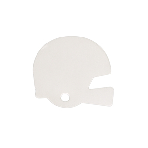 Metal Stamping Blanks Sterling Silver Football Helmet Blank, 24g