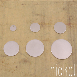 Metal Stamping Blanks Nickel Silver Circles Sample Pack