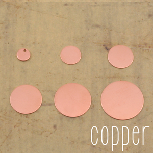 Kits & Sample Packs Copper Round, Disc, Circle Stamping Blanks Sample Pack