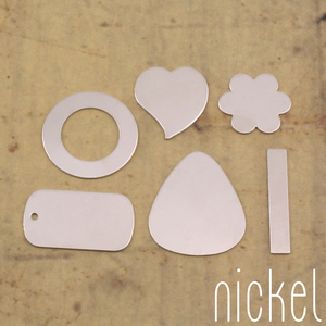 Metal Stamping Blanks Nickel Silver Popular Blanks Sample Pack