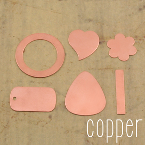 Kits & Sample Packs Copper Popular Stamping Blanks Sample Pack