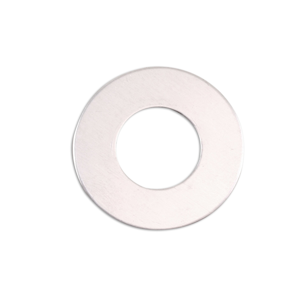 "Metal Stamping Blanks Aluminum Washer, 25mm (1"") with 12.5mm (.5"") ID, 18g, Pack of 5"