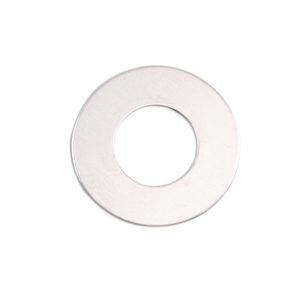 "Metal Stamping Blanks Aluminum Washer, 25mm (1"") with 12.5mm (.5"") ID, 18g, Pk of 5"