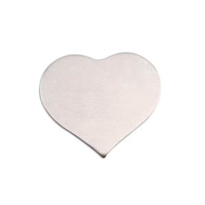 Metal Stamping Blanks Aluminum Medium Puffy Heart, 18g