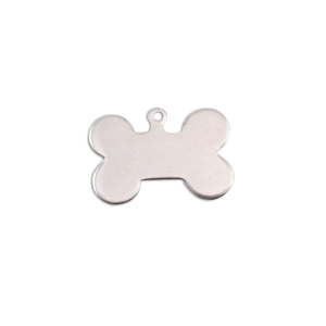 Metal Stamping Blanks Aluminum Small Dog Bone with Top Loop, 18g