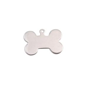 "Metal Stamping Blanks Aluminum Dog Bone with Top Loop, 20mm (.79"") x 13mm (.51""), 18g"