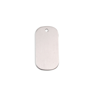 "Metal Stamping Blanks Aluminum Small Dog Tag, 25mm (1"") x 13mm (.51""), 18g"
