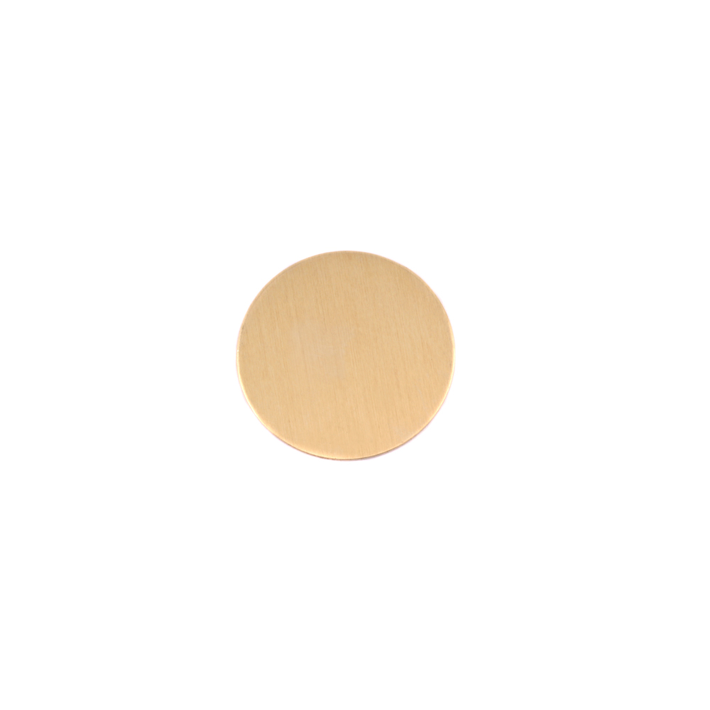 "Metal Stamping Blanks Brass Round, Disc, Circle, 9.5mm (.37""), 24g, Pk of 5"
