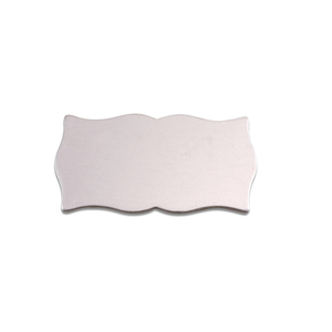 "Metal Stamping Blanks Aluminum Scholarly Plaque, 28.3mm (1.11"") x 14.6mm (.58""), 18g"