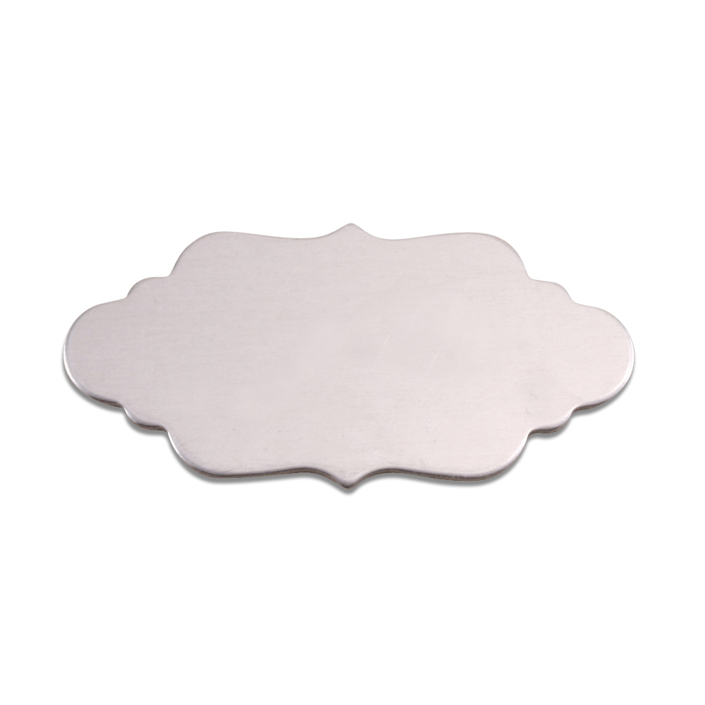 Metal Stamping Blanks Aluminum Large Elegant Plaque, 18g