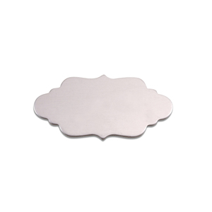 "Metal Stamping Blanks Aluminum Elegant Plaque, 29.5mm (1.16"") x 14.6mm (.57""), 18g, Pk of 5"