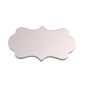 "Metal Stamping Blanks Aluminum Mod Plaque, 40.3mm (1.59"") x 22.1mm (.87""), 18g, Pk of 5"