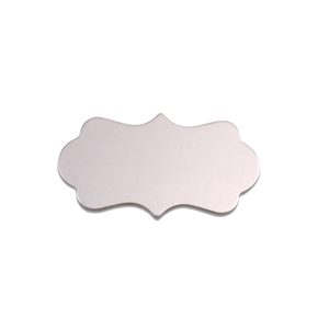 "Metal Stamping Blanks Aluminum Mod Plaque, 29mm (1.14"") x 16mm (.63""), 18g"
