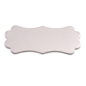 "Metal Stamping Blanks Aluminum Lanky Plaque, 50mm (1.95"") x 19mm (.75""), 18g, Pk of 5"