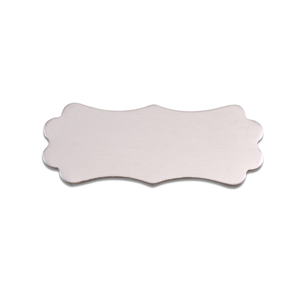 "Metal Stamping Blanks Aluminum Lanky Plaque, 37mm (1.45"") x 14.4mm (.57""), 18g, Pack of 5"