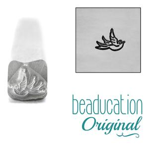 Metal Stamping Tools Baby Swallow Right Facing Metal Design Stamp- Beaducation Original