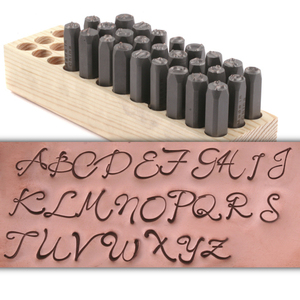 Metal Stamping Tools Script Monogram Uppercase Letter Stamp Set (8mm)