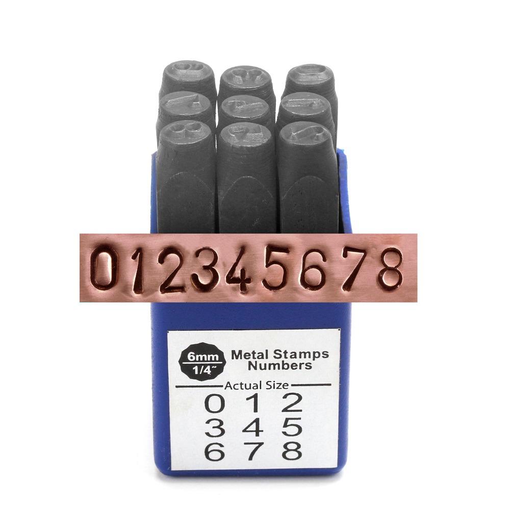 """Metal Stamping Tools Economy Block Number Stamp Set 1/4"""" (6.4mm)"""