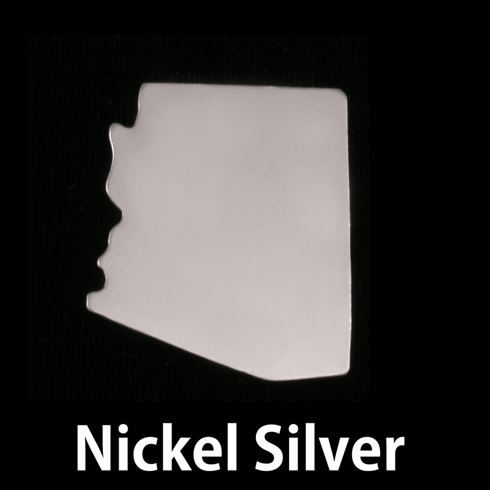 Metal Stamping Blanks Nickel Silver Arizona State Blank, 24g