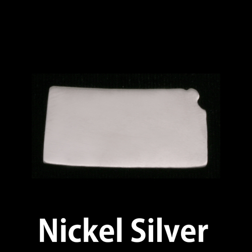 Metal Stamping Blanks Nickel Silver Kansas State Blank, 24g