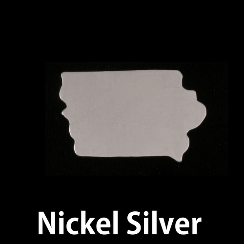 Metal Stamping Blanks Nickel Silver Iowa State Blank, 24g